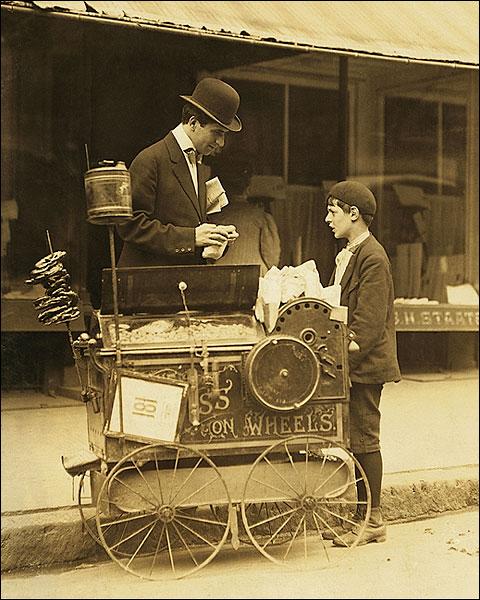 Child Labor Peanut Vendor Lewis Hine 1910 Photo Print for Sale