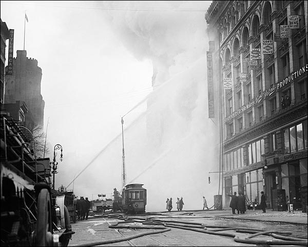 NYC Firefighters Battle Fire 1909 Photo Print for Sale
