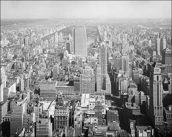 Rockefeller Center, Central Park NYC Aerial 1933 Photo Print for Sale
