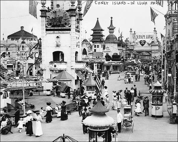 Coney Island Luna Park Brooklyn, New York Photo Print For Sale