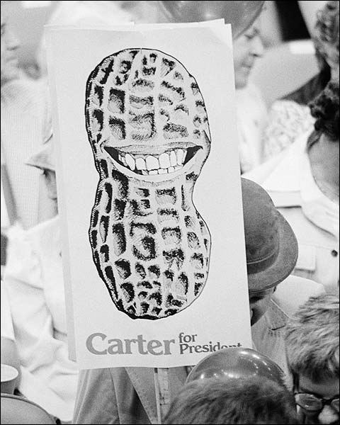 Jimmy Carter Supporter Peanut Sign NYC 1976 Photo Print for Sale
