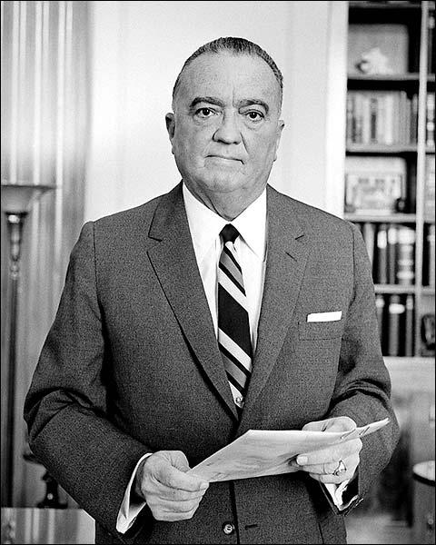 FBI Director J Edgar Hoover Portrait Photo Print for Sale