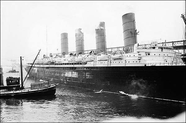 Lusitania Four Stack Cruise Ship Photo Print for Sale