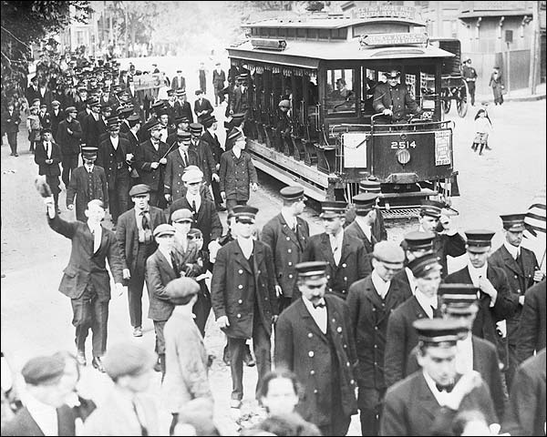 Boston Trolley Strike Early 1900s Photo Print for Sale