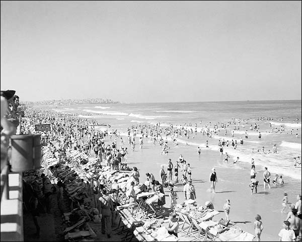 Bathing Beach Tel Aviv Israel 1940s Photo Print for Sale