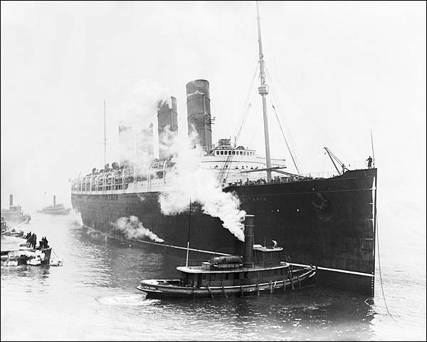 Lusitania Cruise Ship w/ Baseball Players Photo Print for Sale