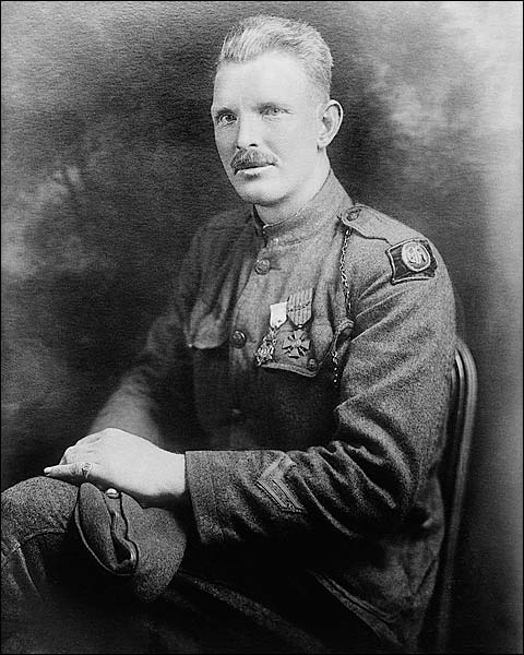 Sergeant Alvin C. York WWI Hero Portrait Photo Print for Sale