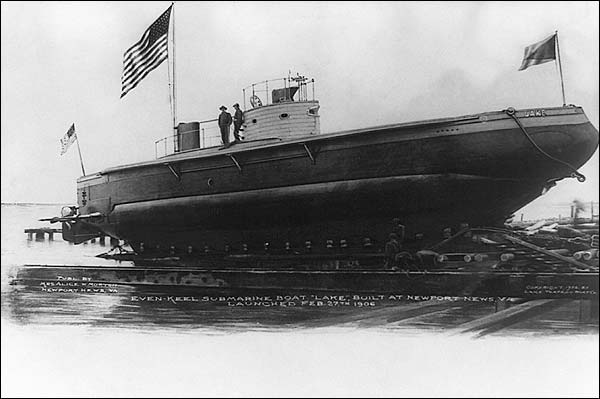 Even Keel Submarine Newport News, Virginia 1906 Photo Print for Sale