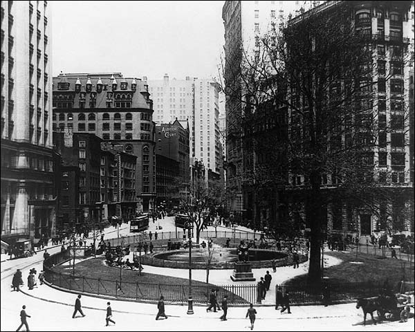 Bowling Green Park New York City 1907 Photo Print for Sale