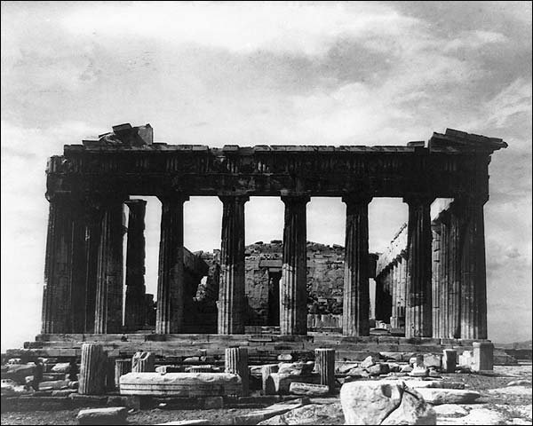 Parthenon Acropolis Athens Greece 1890s Photo Print for Sale