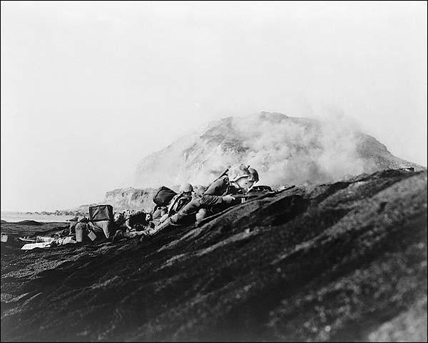 American Marines Land on Iwo Jima 1945 WWII Photo Print for Sale