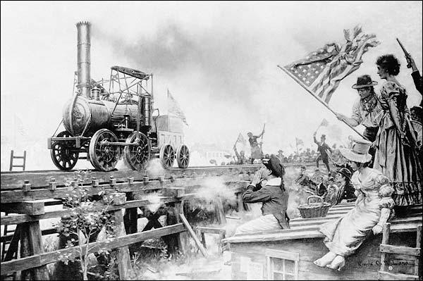 First U.S. Locomotive Train 'Stourbridge Lion' Sketch 1829 Photo Print for Sale