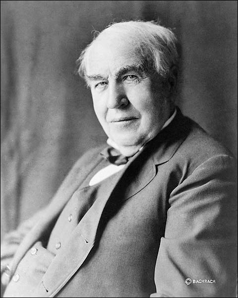 Inventor Thomas Alva Edison Portrait 1922 Photo Print for Sale