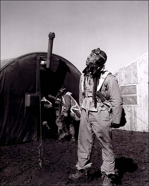 Toni Frissell WWII Tuskegee Airman in Italy  Photo Print for Sale