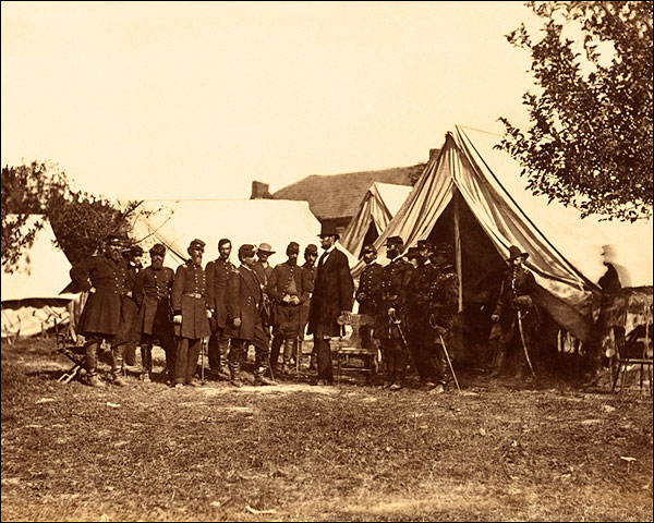 Abraham Lincoln & Officers Civil War 1862 Photo Print for Sale