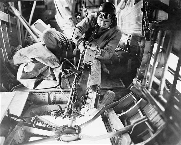 WWII B-24 Liberator Bomber Belly Gunner Photo Print for Sale