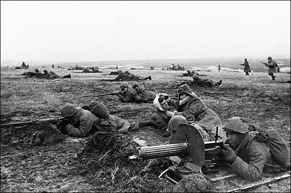 Russian Troops with Injured Soldiers WWII Photo Print for Sale
