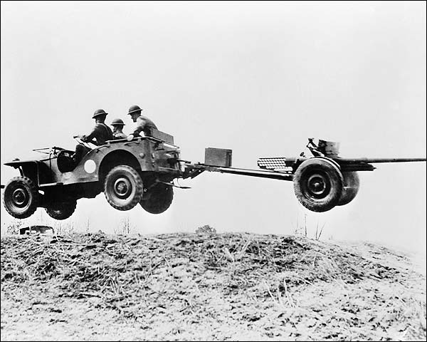 British Bantam Jeep Joy Ride WWII Soldiers Photo Print for Sale