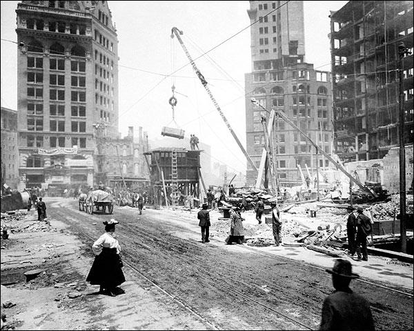 1906 San Francisco Earthquake Debris Photo Print for Sale