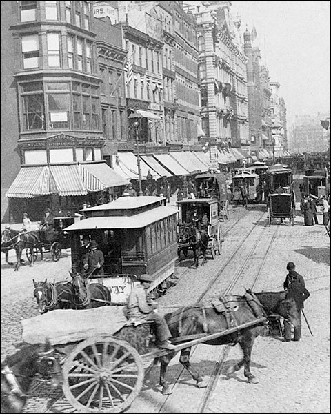 Broadway & Union Square New York City 1892 Photo Print for Sale