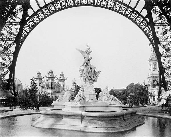 Fountain St. Vidal 1889 Paris Exposition Photo Print for Sale