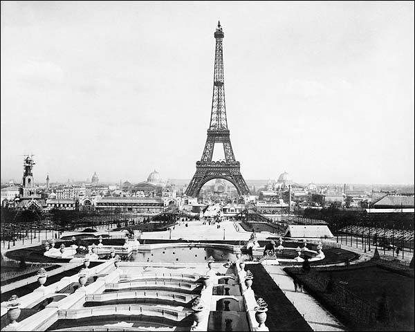 1889 World's Fair Paris Exposition Eiffel Tower  Photo Print for Sale