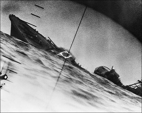 WWII Submarine Periscope Japanese Destroyer Photo Print for Sale