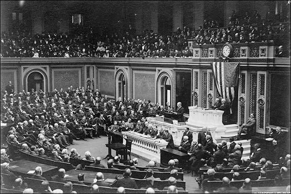 President Woodrow Wilson & Congress 1917 Photo Print for Sale