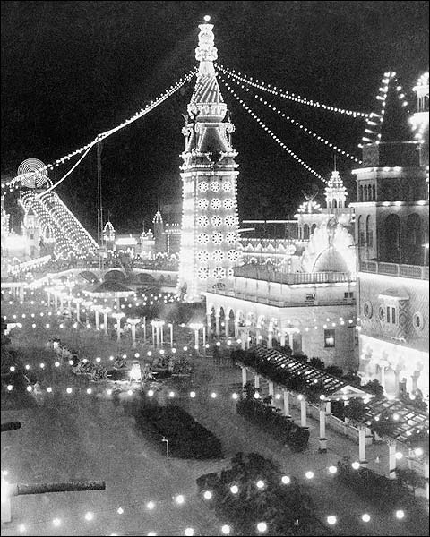 Luna Park at Night Coney Island NY 1903 Photo Print for Sale