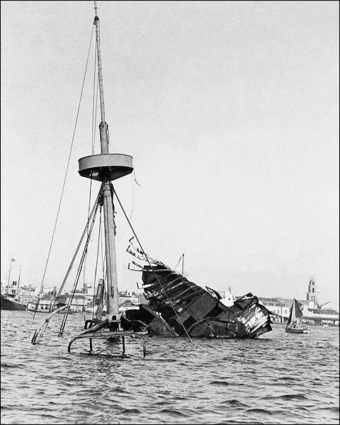 Spanish American War USS Maine Wreckage in Cuba Photo Print for Sale