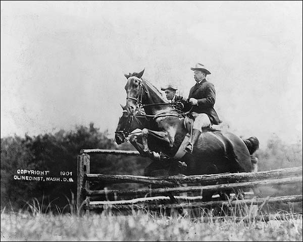 Theodore Roosevelt & Fitzhugh on Horses Photo Print for Sale