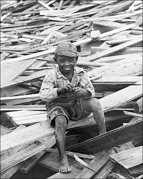 Galveston Hurricane Aftermath Survivor 1900 Photo Print for Sale