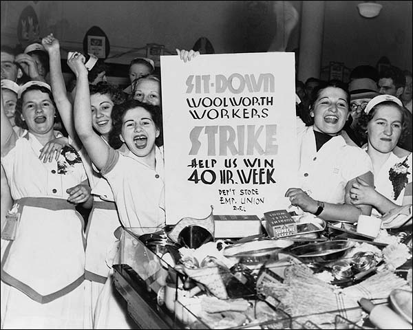 Woolworth Female Employees Strike 1937 Photo Print for Sale