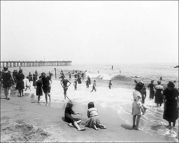 Ocean Grove Seashore Beach Crowd NJ 1904 Photo Print for Sale