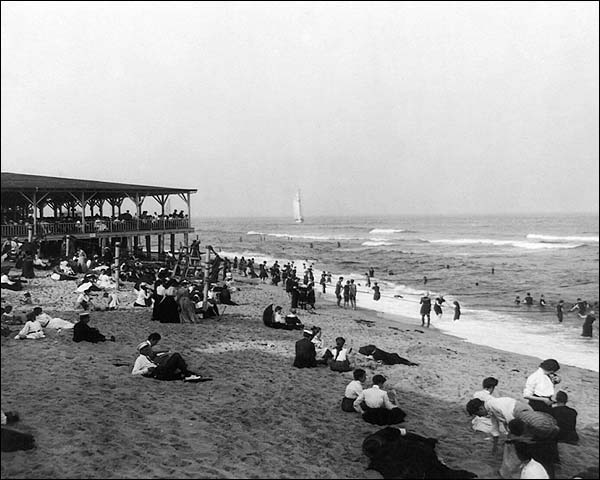Ocean Grove Beach Pavilion New Jersey 1904 Photo Print for Sale