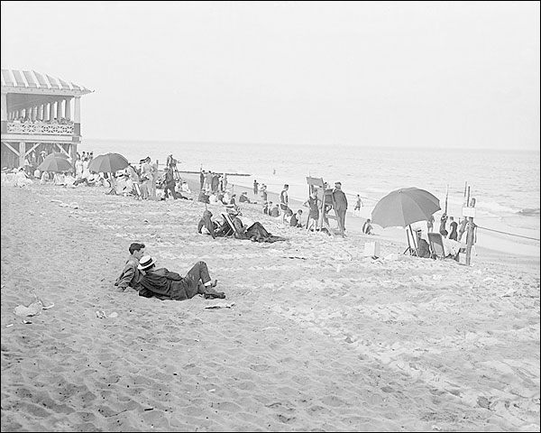 Asbury Park Beach New Jersey 1900s Photo Print for Sale