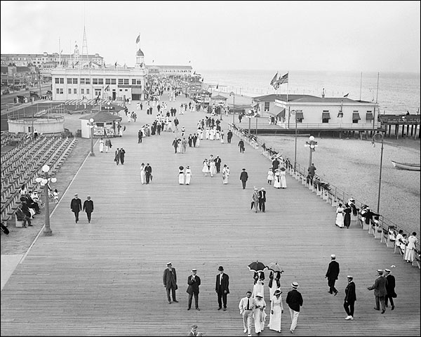 Asbury Park Boardwalk NJ Seashore & Beach Photo Print for Sale