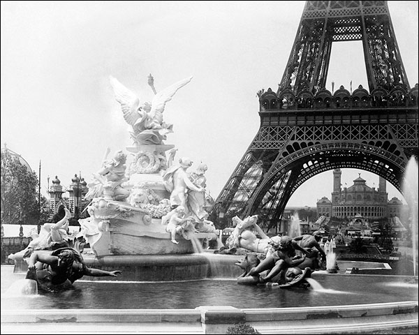 Eiffel Tower & Palace Paris Exposition 1889 Photo Print for Sale