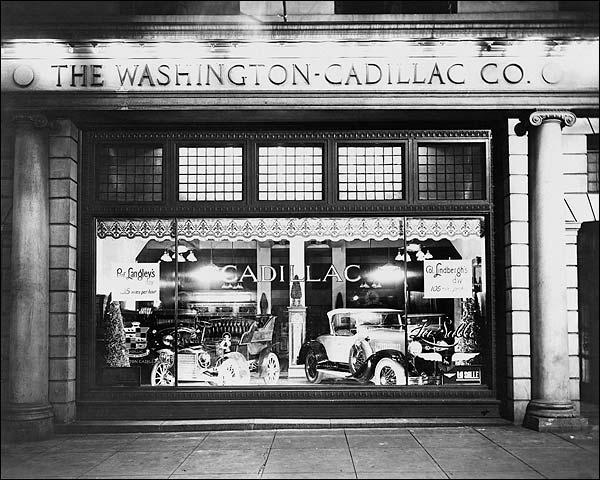Washington Cadillac Co. Window & Cars 1927 Photo Print for Sale