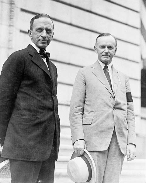 Calvin Coolidge & Edward T. Clark Portrait Photo Print for Sale