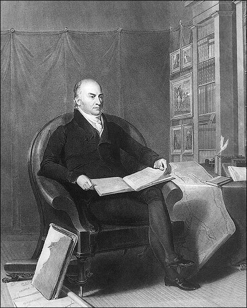 U.S. President John Quincy Adams Portrait Photo Print for Sale