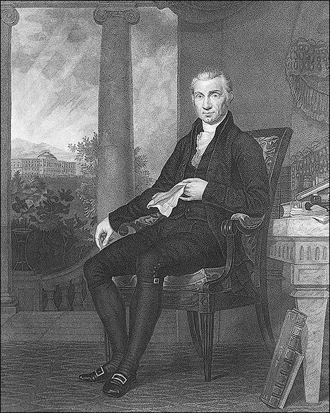 U.S. President James Monroe Portrait Photo Print for Sale
