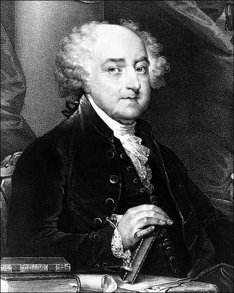 U.S. President John Adams Engraved Portrait Photo Print for Sale