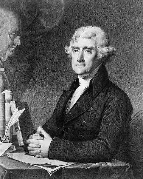 U.S. President Thomas Jefferson Portrait Photo Print for Sale
