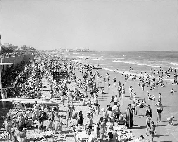 1940s Bathing Beach Tel Aviv Israel Photo Print for Sale