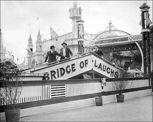 Bridge of Laughs Luna Park Coney Island NYC Photo Print for Sale