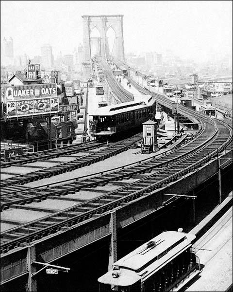 Brooklyn Bridge View Toward Manhattan 1899 Photo Print for Sale
