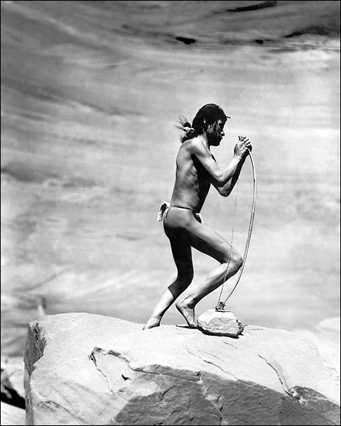 Navajo Indian Stringing Bow 1913 Photo Print for Sale