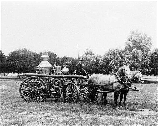 Horse Drawn Antique Fire Engine in York, PA Photo Print for Sale