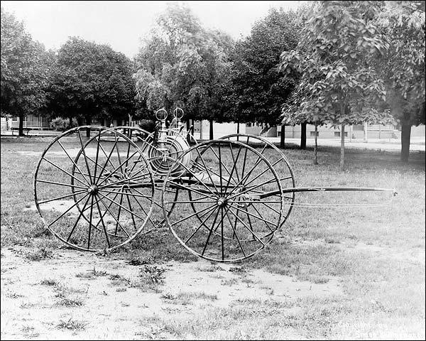 Laurel Hose Reel on Antique Fire Cart Photo Print for Sale